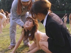 Horny asian flashes her shaved box before a hard cock ride