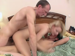 Attractive sexy babe getting anal gaped by two mighty dudes