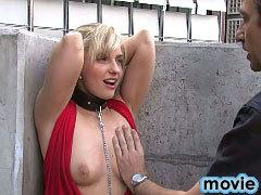 Blonde babe deepthroats a monster cock before a hard fuck