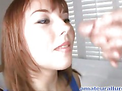 Amateur Redhead Blows Schlong For Dude Gravy